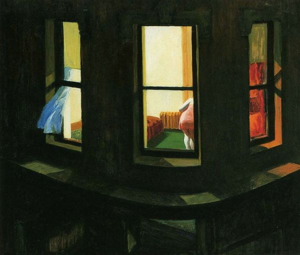 Hopper-through-window